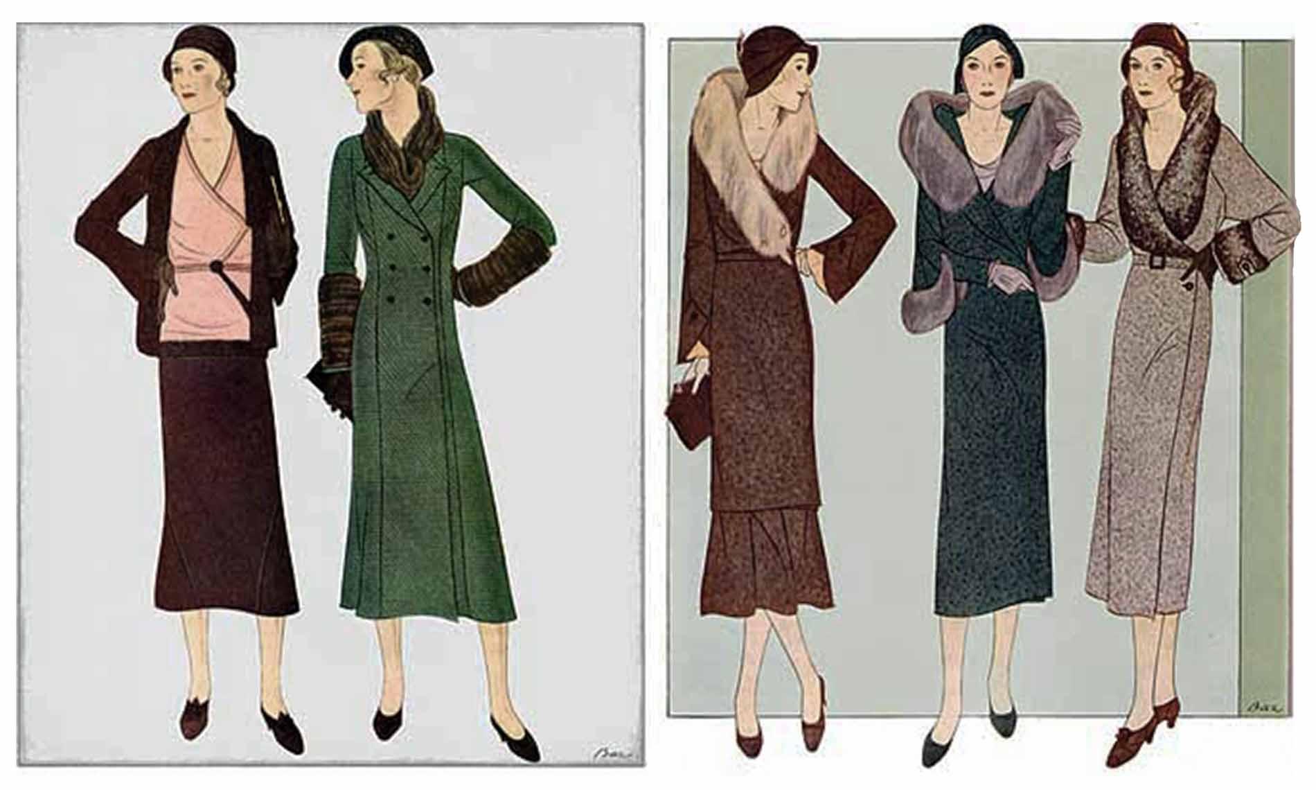 Ilustraciones en la evolución de la moda mexicana