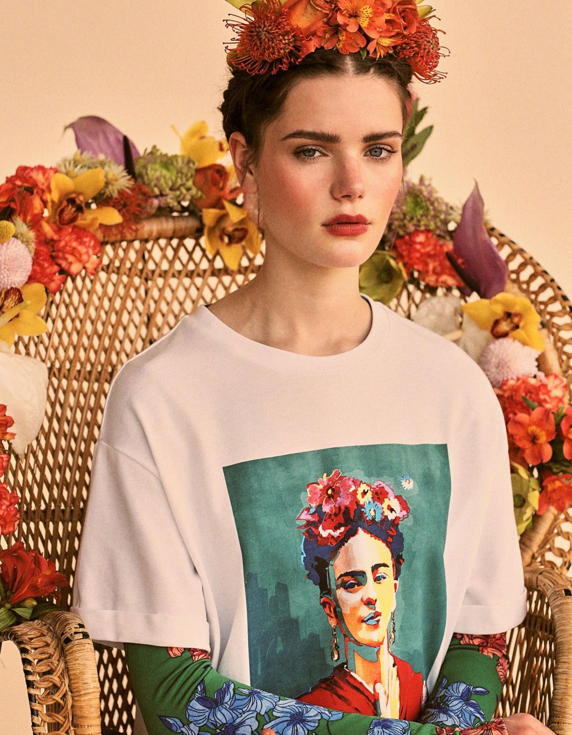 Stradivarius lanza colección inspirada en Frida Kahlo
