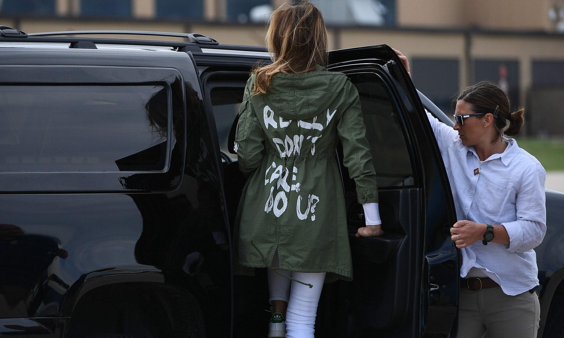¿Qué es lo que Melania Trump intenta decir?